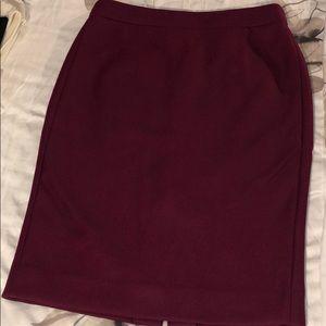 J. Crew No. 2 Pencil skirt in burgundy